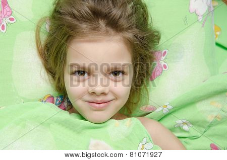 Girl Lying In Bed