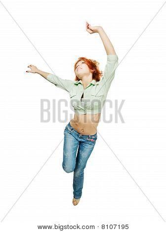 Dancing Red Girl