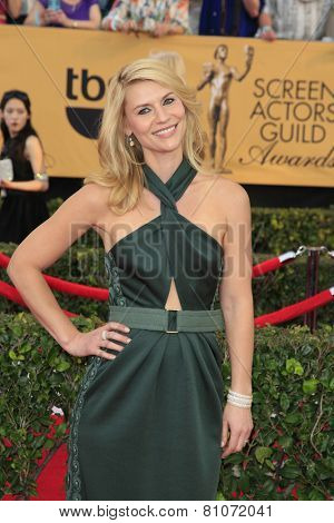LOS ANGELES - JAN 25:  Claire Danes at the 2015 Screen Actor Guild Awards at the Shrine Auditorium on January 25, 2015 in Los Angeles, CA