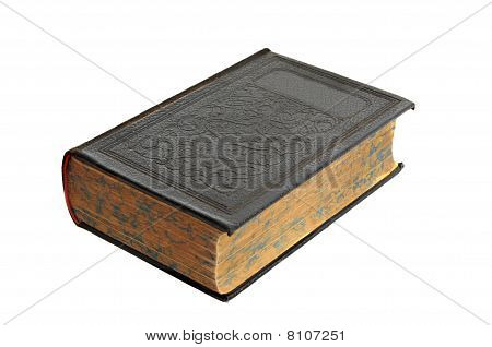 Antique Hardcover Book Isolated On White