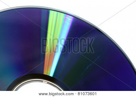 Cratched Cd Or Dvd Close Up, Data Loss Concept