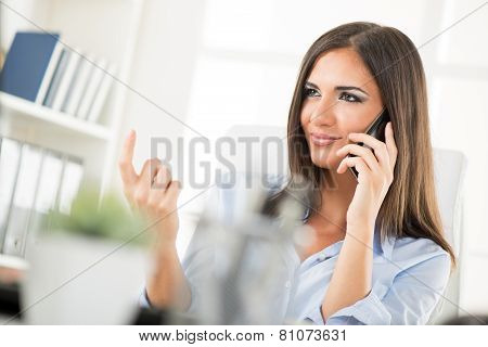 Sexy Businesswomwn Beckoning