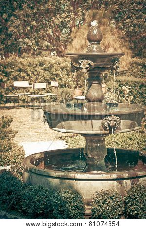 Fountain Multi Tiered In The Garden