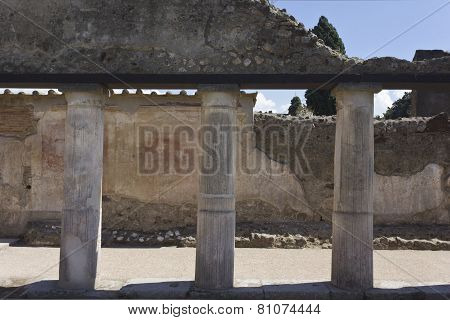 Stabian Thermal Baths Complex In Pompei