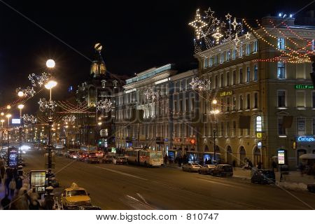 view on nevsky prospect. saint-petersburg. russia