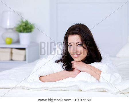 Beautiful Smilling Woman At Home