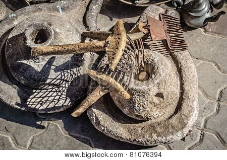 Old Tools Used To Obtain Argan Oil