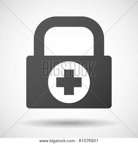 Lock Icon With A Pharmacy Sign