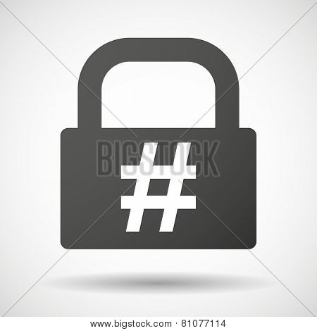Lock Icon With A Hash Tag