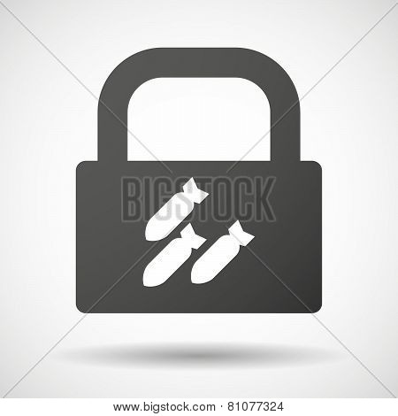 Lock Icon With Bombs