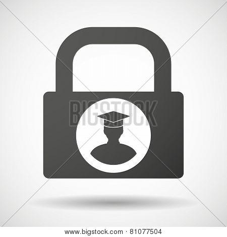 Lock Icon With A Student