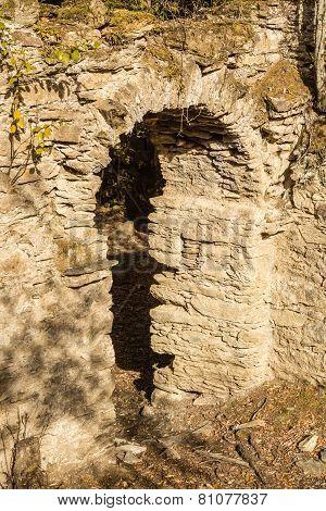 Ruins Of Ancient Convent Near Corsoli In Corsica