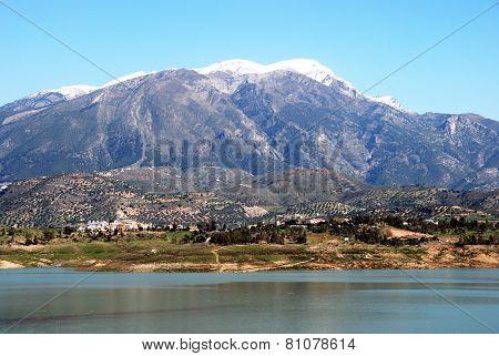 Lake Vinuela, Spain.
