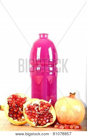Pomegranate Juice And Fruits