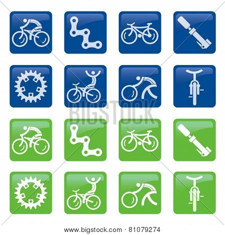 Cycling Buttons Icons