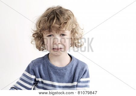 little cute boy crying