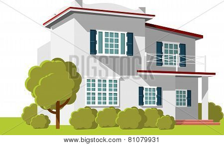 Architecture background with family house