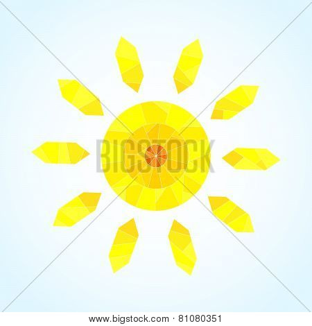 Abstract segmented sun, vector pattern