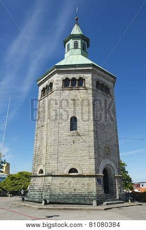 Exterior of the Valberg tower in Stavange,r Norway.