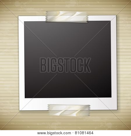 A photo frame cardboard