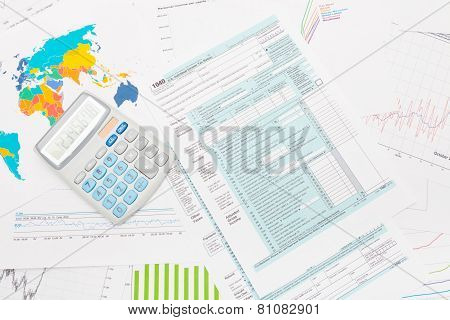 1040 Us Tax Form With Calculator