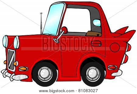 Cute red car