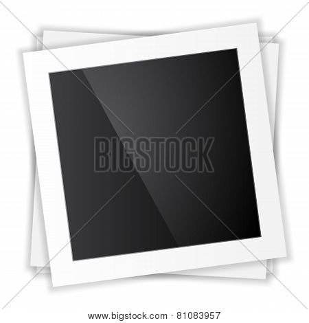 Photo frame. Top view. vector
