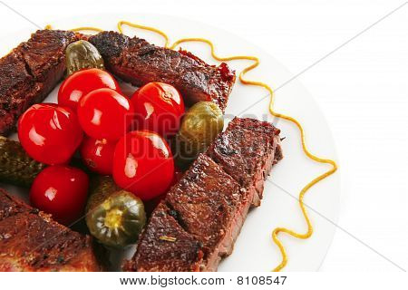 Grilled Small Beef Chunks