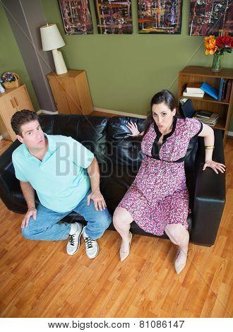 Pregnant Wife Stuck In Sofa