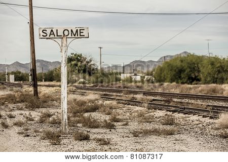 Railroad Tracks In Arizona