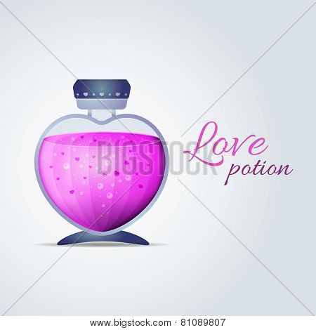 Vector Love Potion for Valentines Day cards