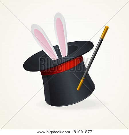 Magic hat and rabbit