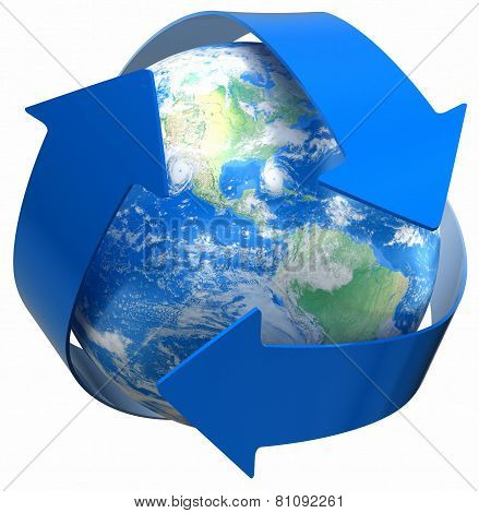 Recycle Globe (clipping path included)
