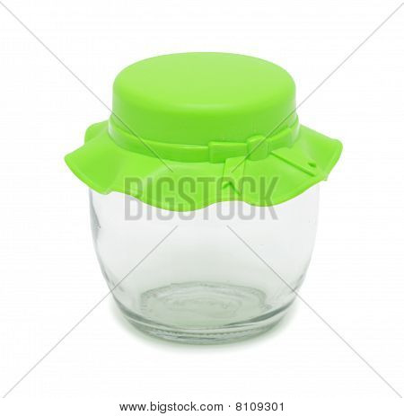 Clear Plastic Jar, Isolated