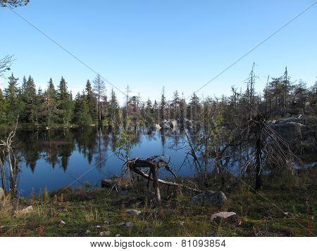a lake on Vottovaara mountain
