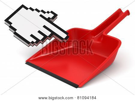 dustpan and Cursor (clipping path included)