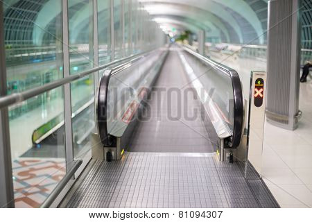 Walkways At The Airport For Passengers