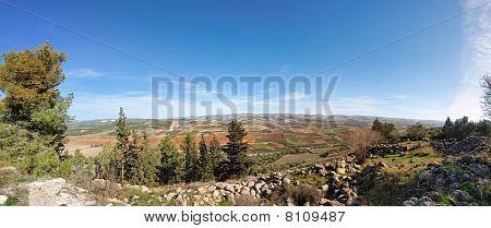 Mediterranean landscape panorama