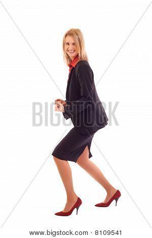 Very Excited Business Woman