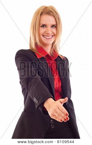 Woman Giving Hand For Handshake