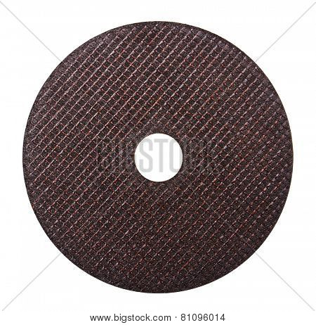 Abrasive disk isolated on white background