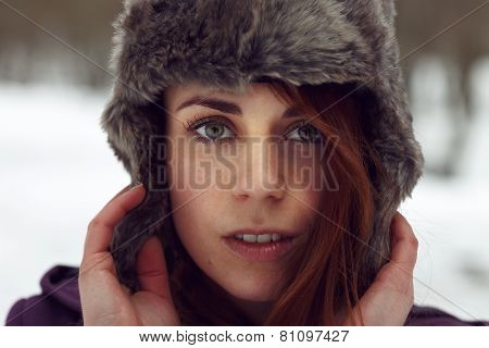 Attractive Woman Looking To Camera