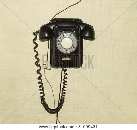 Old telephone set of 50s of XX century