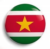 picture of suriname  - Suriname flag icon isolated on white - JPG