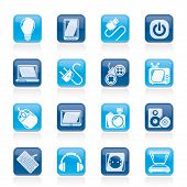 stock photo of tv sets  - Electronic Devices objects icons  - JPG