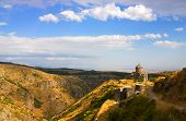 picture of armenia  - Armenian church built on the slopes of Mt - JPG