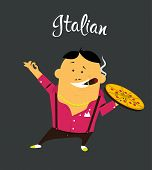 pic of spanish money  - Italian man cartoon character - JPG