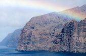 stock photo of cliffs  - Acantilados de Los Gigantes  - JPG