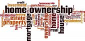 picture of dream home  - Home Ownership word cloud - JPG