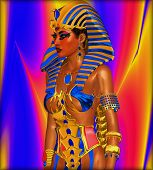 stock photo of cleopatra  - Cleopatra or any Egyptian Woman Pharaoh - JPG